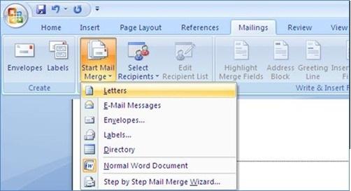 Selanjutnya klik Select Recipient dan pilih Type New List, seperti ...