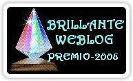 Brillant Web Blogsite Award