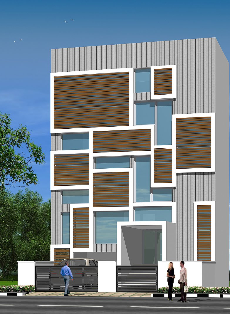 Office Building Front Elevation : Chennai building elevation image joy studio design