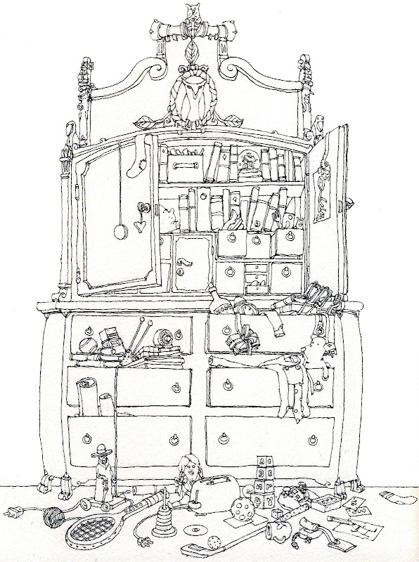 bedroom cupboard colouring pages