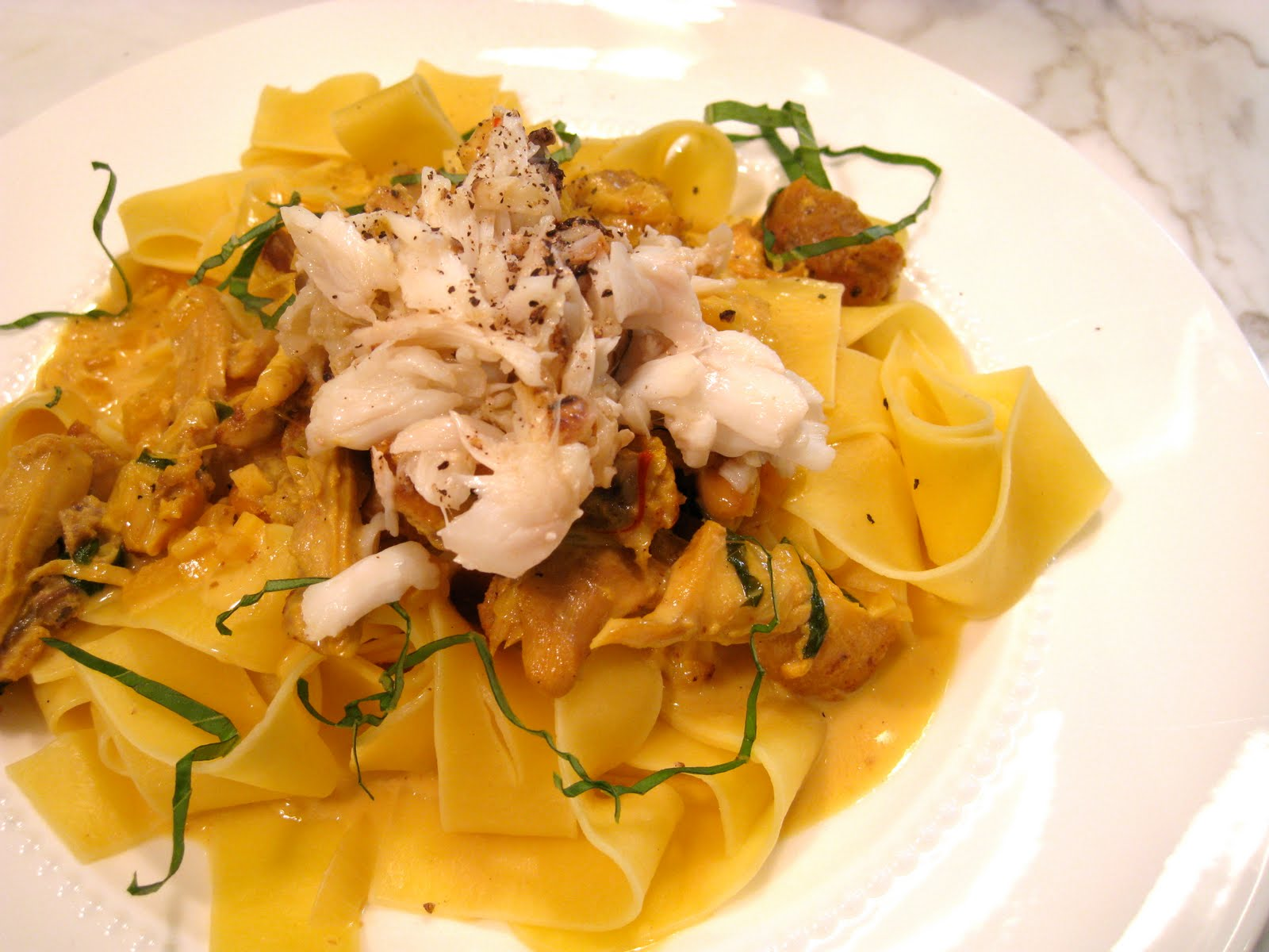 THE MARY BUFFET: Pappardelle with Braised Chicken, Saffron ...