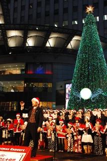 クリスマスソングの大合唱の写真