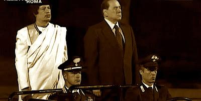 Muammar El Gheddafi e Suilvio Berlusconi