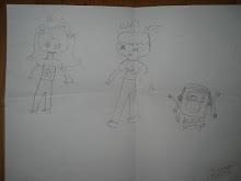 La meva cosina Anna m'ha fet un dibuix