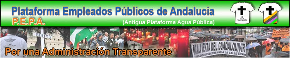 PLATAFORMA AGUA EMPLEO PUBLICO ANDALUCIA