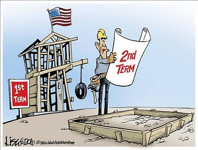 no second term for obama cartoons
