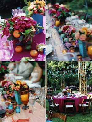 The Wedding Decorator Teal purple and oranges