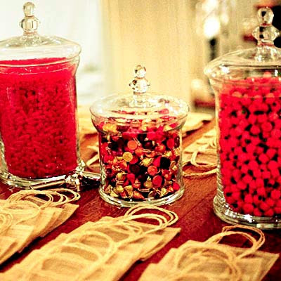 red wedding candy bar
