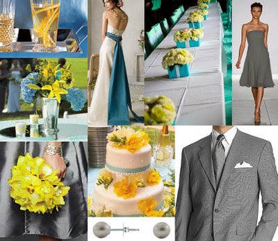 Lemon and Aqua Wedding