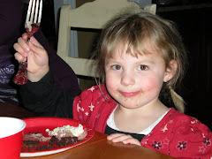 Bre eating cake