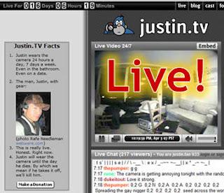Justin.TV il reality online direttamente via web 24 ore su 24!