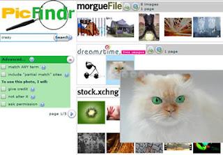 ricerca immagini gratuite con PicFindr