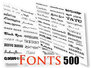 500 fonts gratuite