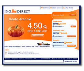 il sito ING DIRECT