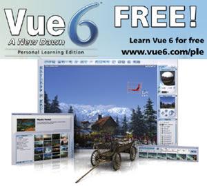 SOFTWARE 3D GRATUITO VUE6 PLE, il software per realizzare scenari e paesaggi in 3D gratis!