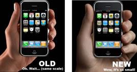 le dimensioni del nuovo cellulare iphone apple sono cambiate?