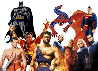 eroi del passato e supereroi del presente e futuro