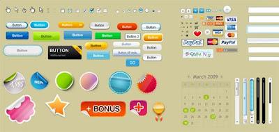 risorse utili per grafici e web designer. Pulsanti e icone per migliorare l'interfaccia di pagine web