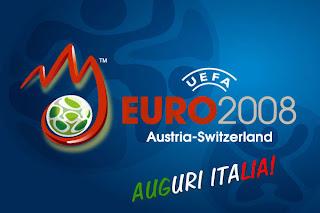 il logo ufficiale dei campionati europei calcio 2008 in austria e svizzera