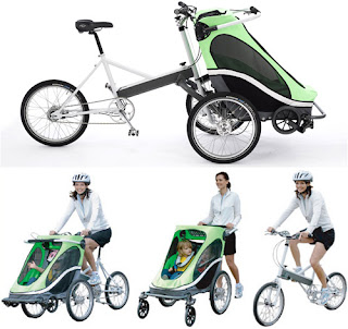 bicicletta multiuso con bambini al seguito!