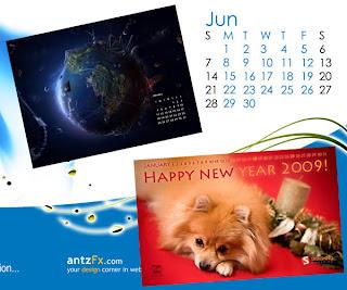 wallpaper e calendario 2009 per il tuo desktop