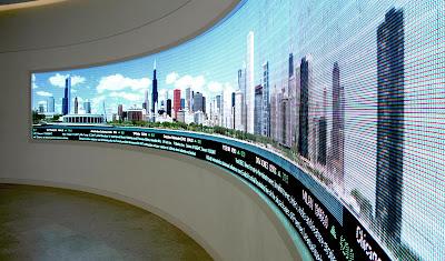 video da parete con dati in tempo reale, per sedi di rappresentanza