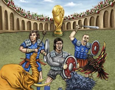 il poster della nazionale italiana di calcio ai prossimi mondiali 2010 in sudafrica