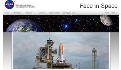 la tua foto nello spazio sullo space shuttle della nasa