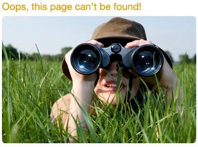 Pagina errore 404 personalizzate