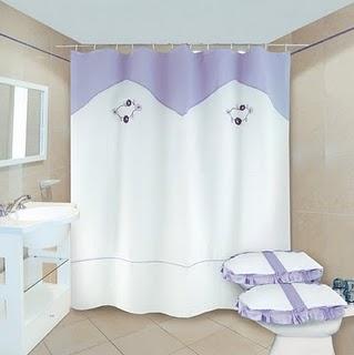 Colchas cortinas cojines juego de ba os juego de - Cortinas de tela para banos fotos ...