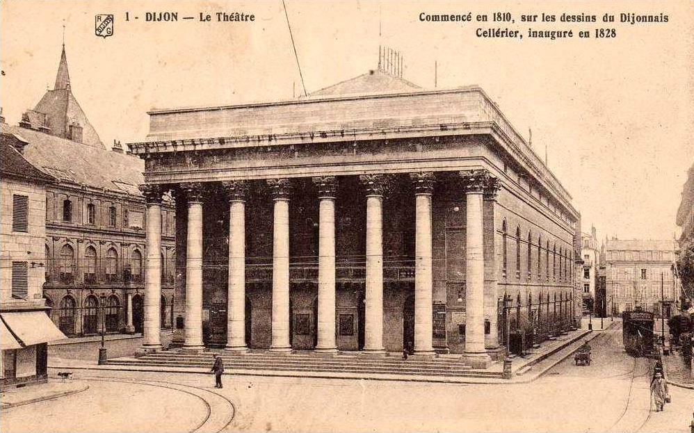 Dijon en 1900 le th tre municipal for Je ris de me voir si belle en ce miroir