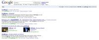 Exemple de résultat naturel sur Google contenant des vidéos : universal Search
