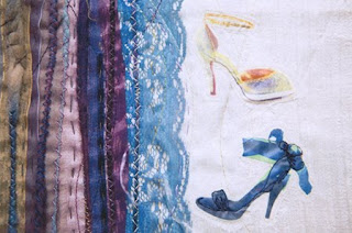 Lisa Pocklington Textile Art Shoe Detail