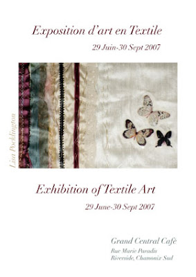 Exhibition of Textile Art by Lisa Pocklington Poster