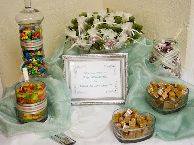 A candy buffet seems to be the trend these days