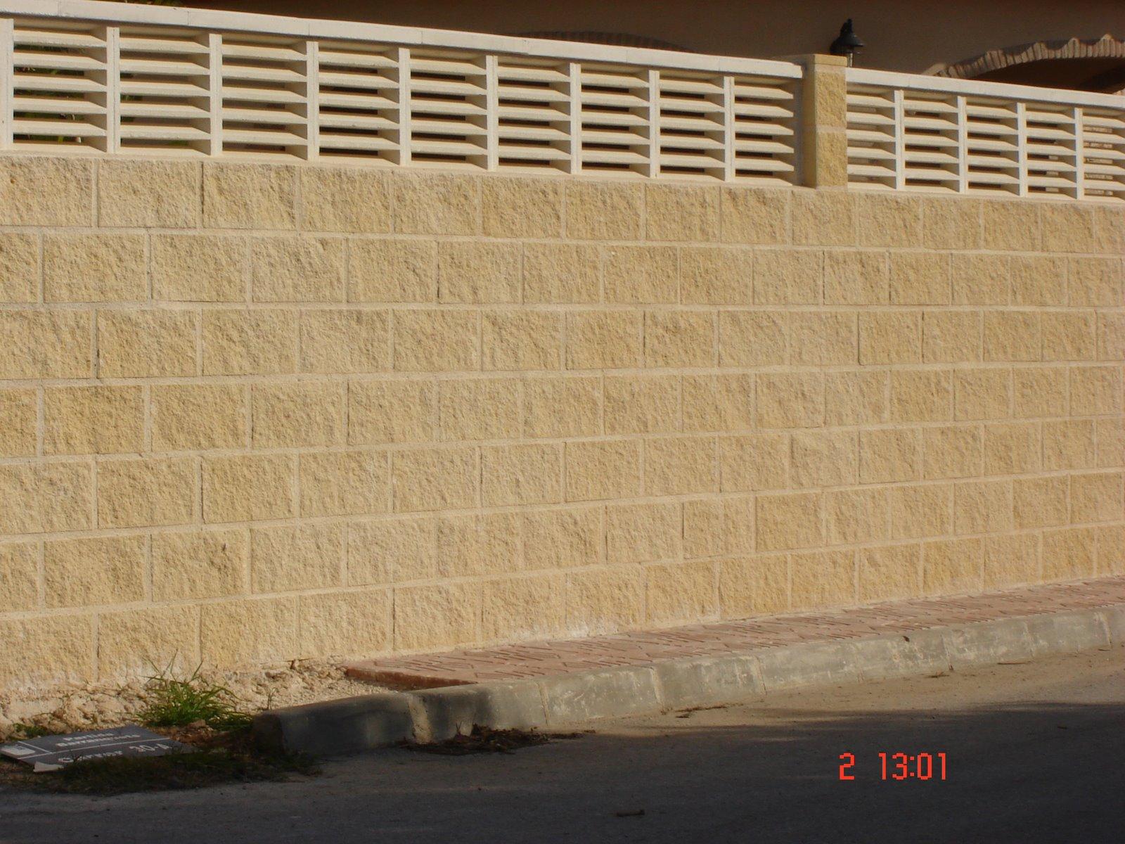 Reformas en general pared de bloque r stico - Muro de bloques ...
