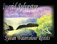 Ingrid Sylvestre Watercolour Resist Paintings