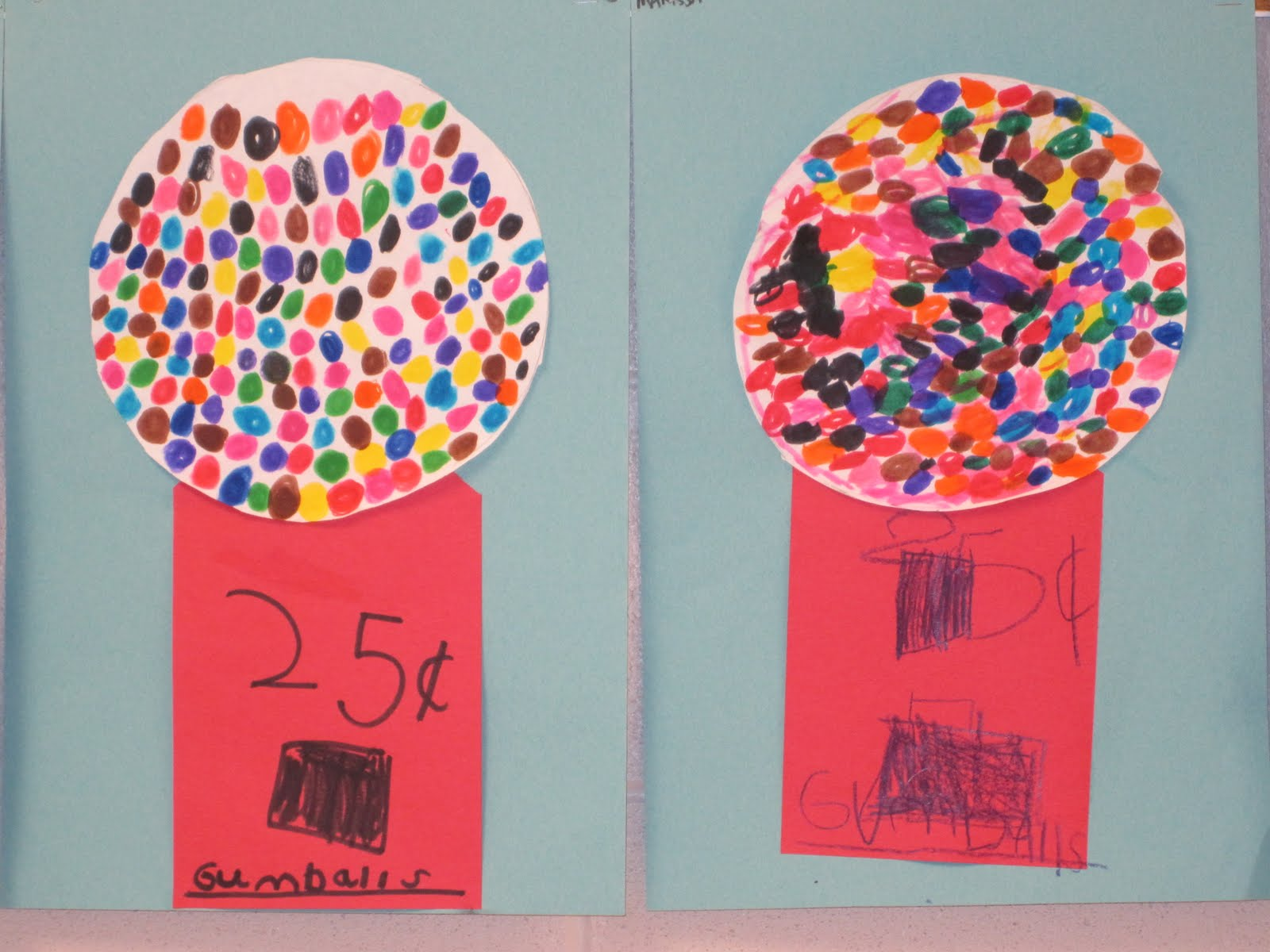 kindergarten art projects the clever feather gumball machines
