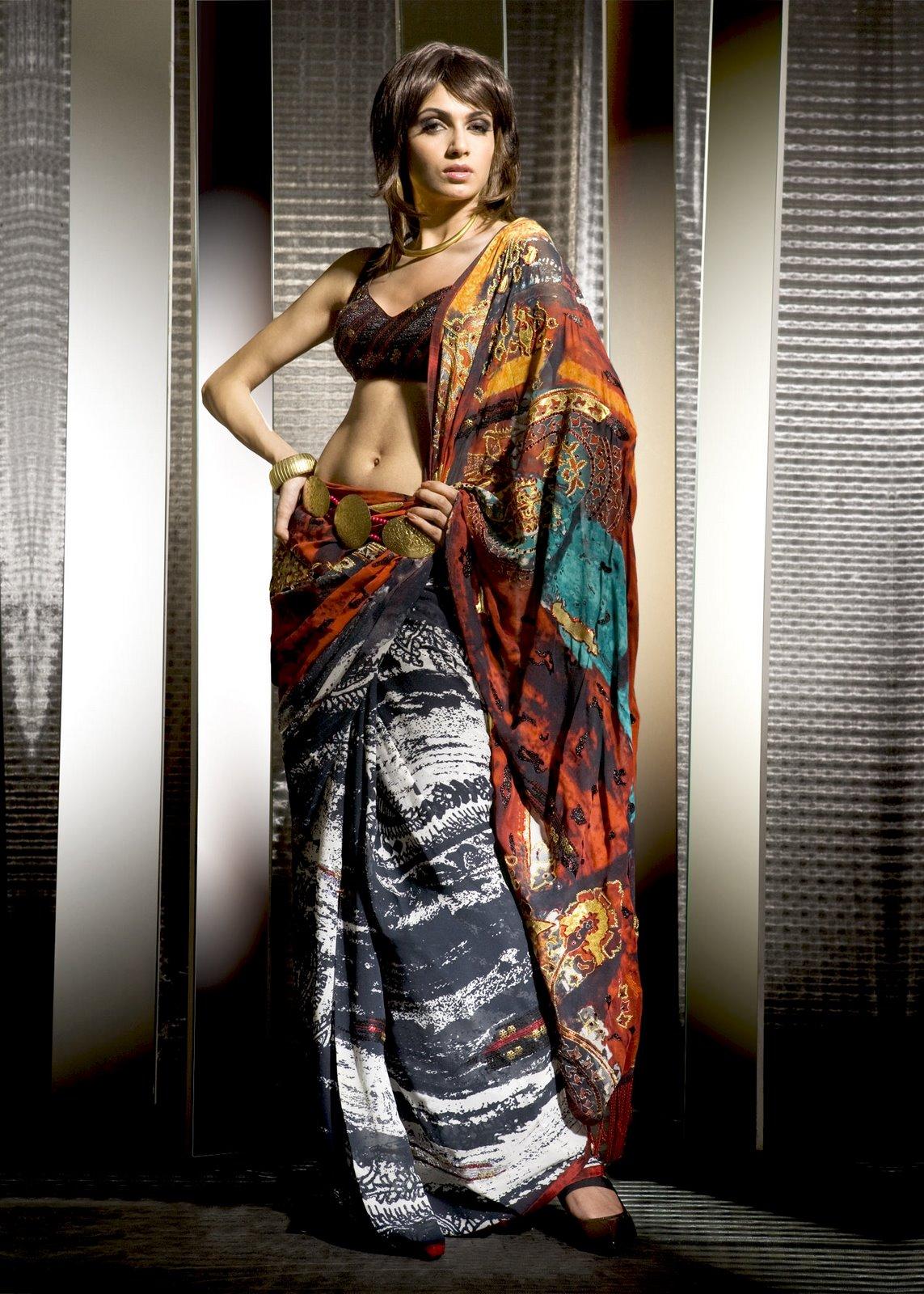 , Simran Kaur Mundi in Saree, Satya Paul Photo Shoot