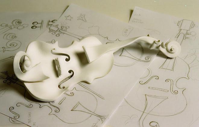 Esboços e escultura