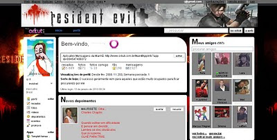 Tema skin para Orkut Resident Evil