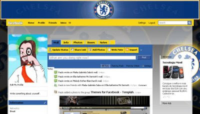 facebook skin layout - theme for facebook with  Chelsea
