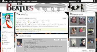 Tema skin para Orkut The Beatles