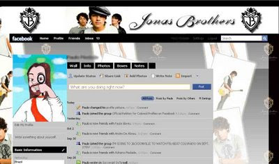 facebook skin layout - theme for facebook with  Jonas Brothers