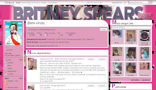 Tema skin para Orkut Britney Spears
