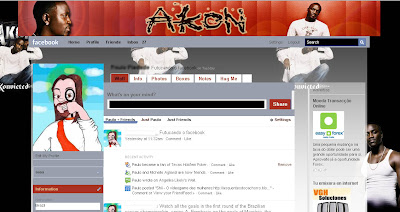 facebook skin layout - theme for facebook with Akon