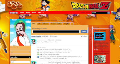 facebook skin layout - theme for facebook with DragonBall