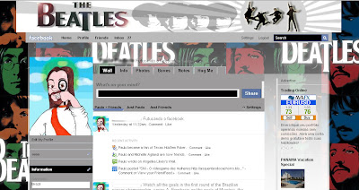 facebook skin layout - theme for facebook with The Beatles
