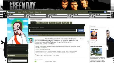  facebook layout skin template theme green day