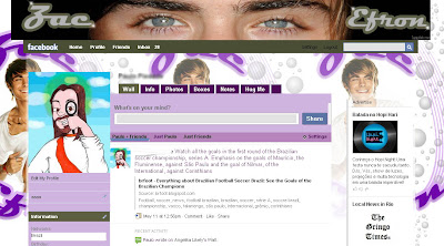 facebook layout skin template theme zac efron troy